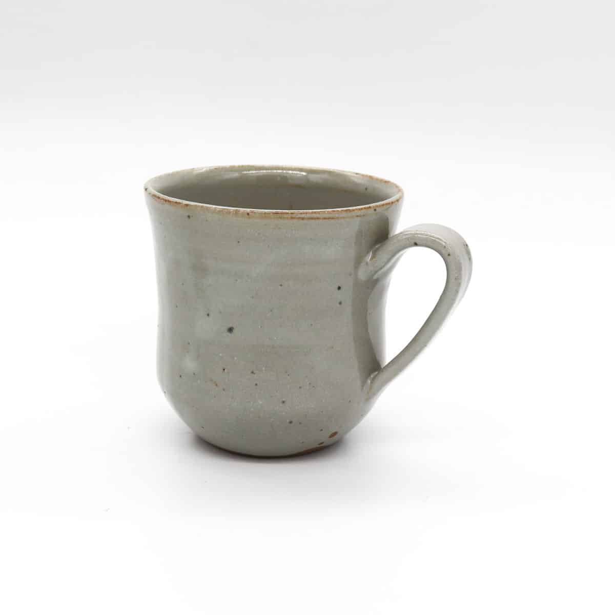 Large Ceramic Mug – Red Clay Grey Glaze By Clifton Hill Pottery