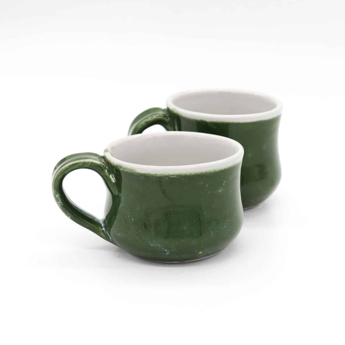 Small Teacup – Green By Clifton Hill Pottery