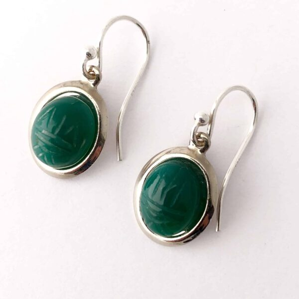 vintage-green-onyx-scarab-earrings-by-my-vintage-obsession-by-myvintageobsession2020