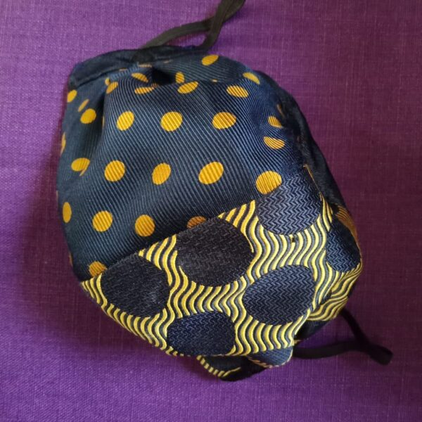 bold-navy-and-mustard-spotted-silk-face-mask-by-judith-scott-upcycling-by-judithscott