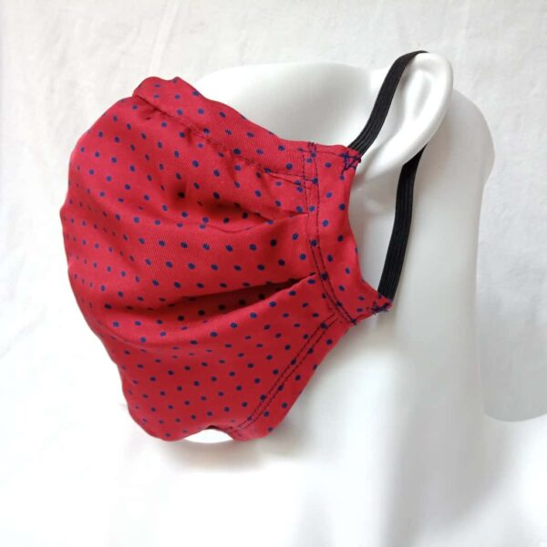 Sustainable Upcycled Red Silk Face Mask by Judith Scott Upcycling