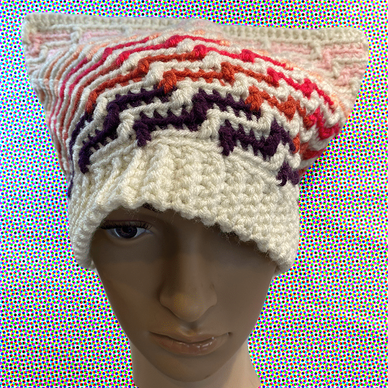 Mosaic Beanie (L) By Out Of My Mind Crochet