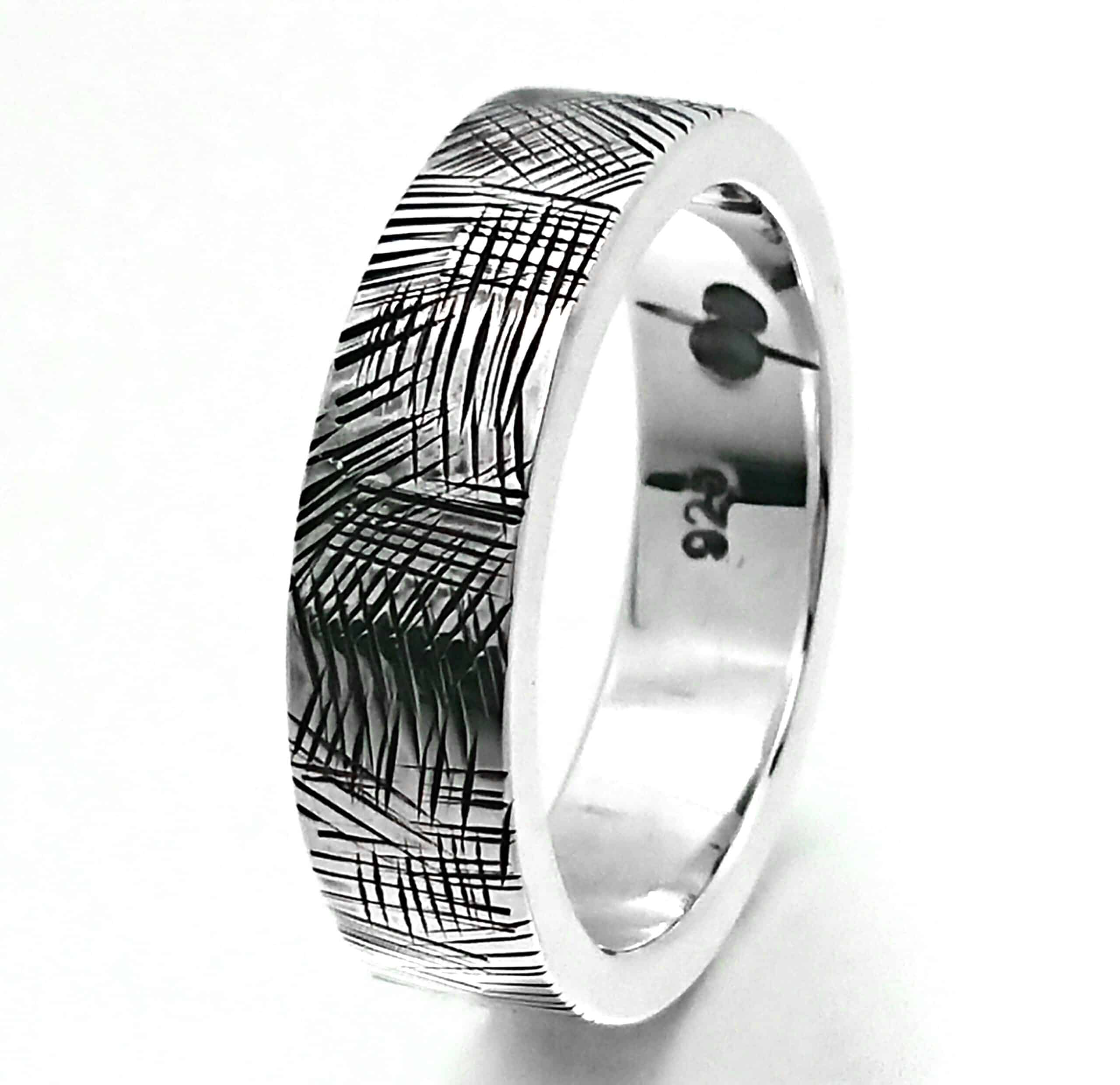 Chizel Ring, Sterling Silver, Size V By R-Process