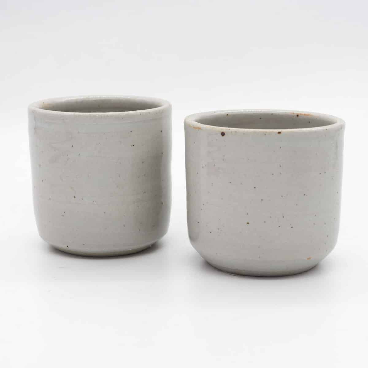 Plain White Beaker By Clifton Hill Pottery Set Of 2