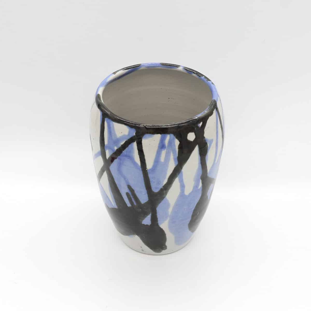 Blue And Black Splash By Clifton Hill Pottery