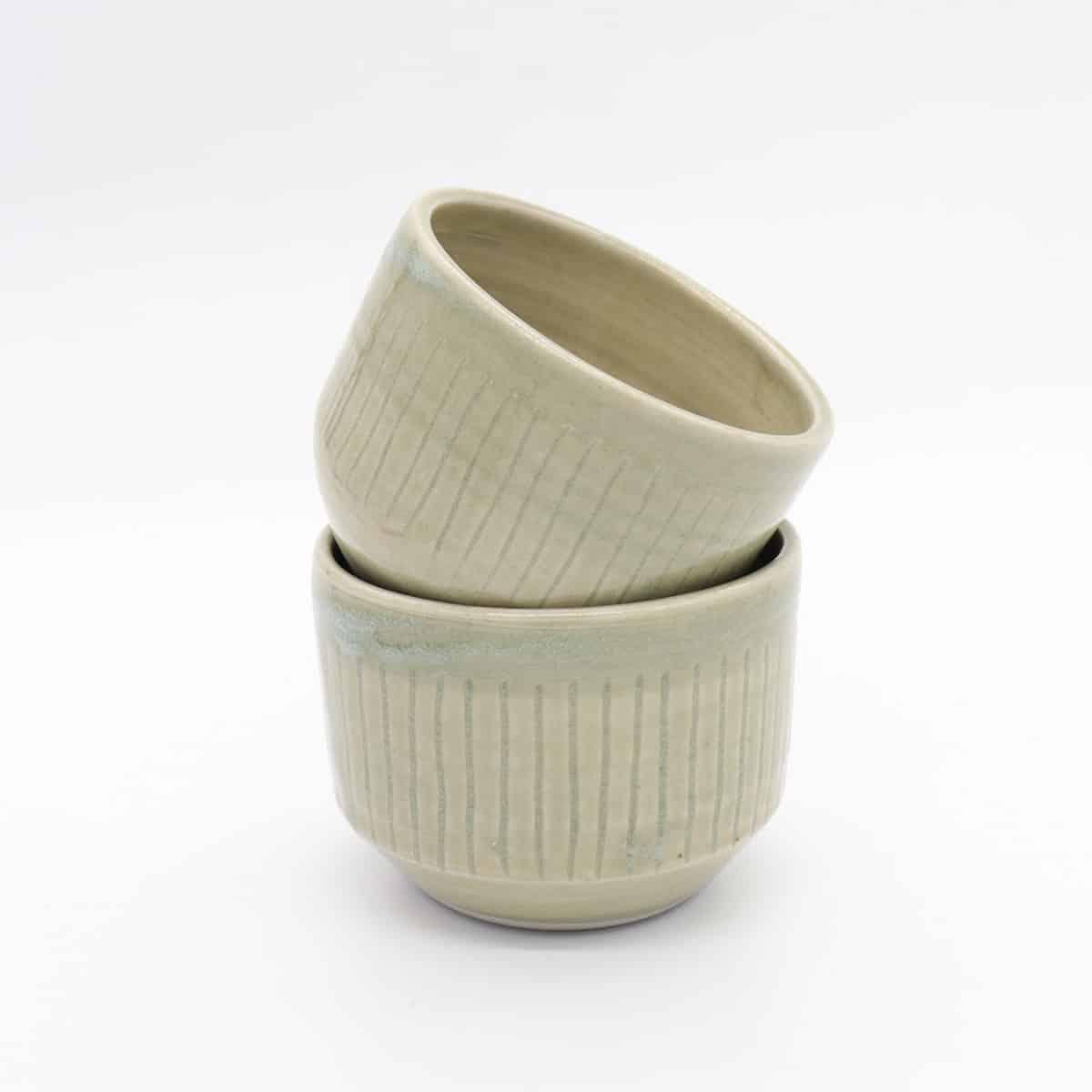 Fluted Celadon Ramekin By Clifton Hill Pottery