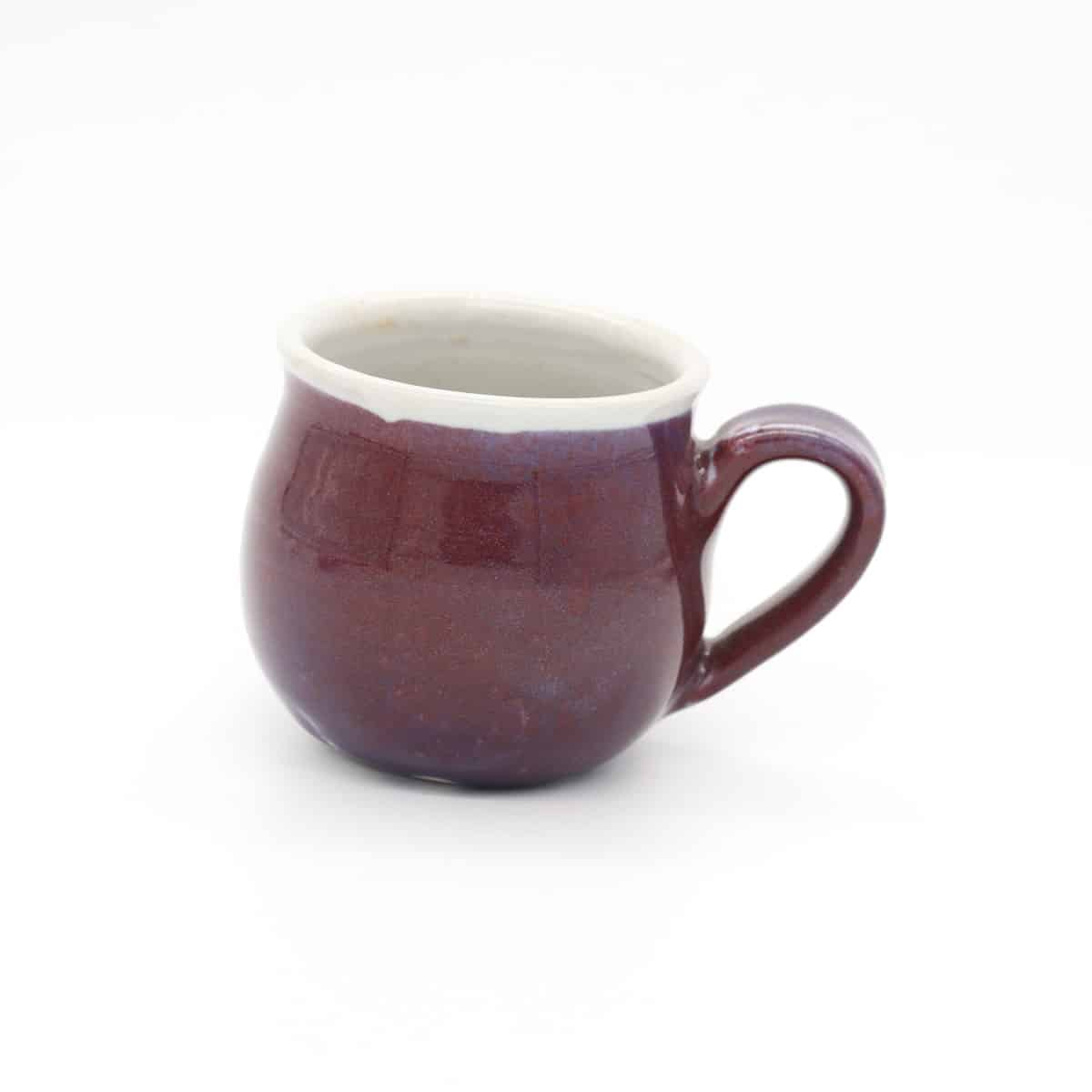 Small Purple Hourglass Mug By Clifton Hill Pottery