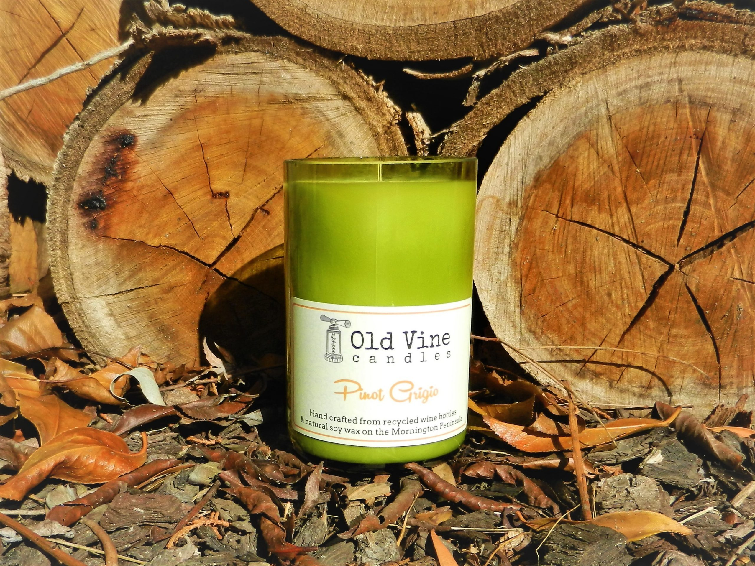 Pinot Grigio Candle By Old Vine Candles -Display