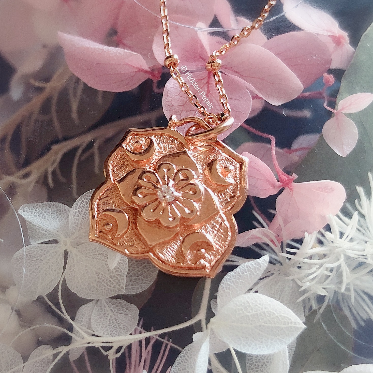 Artemis Rose Gold Plated Necklace By Hidden Petals