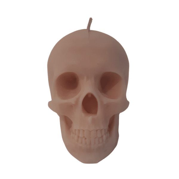 Skull candle light pink with a musk scent by Luxtacor