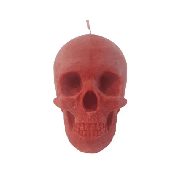 Skull candle red scented by Luxtacor