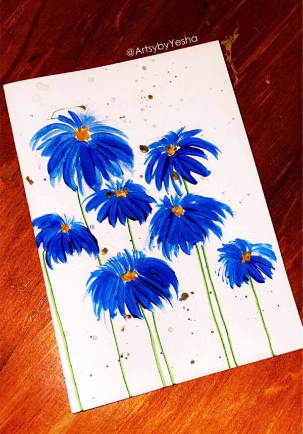 blue-floral-greeting-card-by-artsy-by-yeshapatel