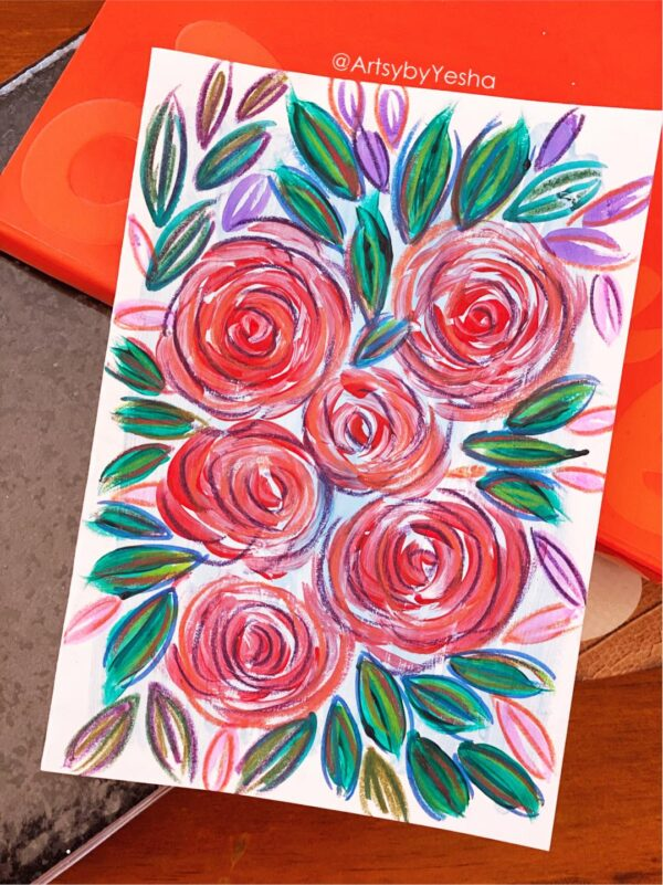 red-purple-abstract-flower-card-by-artsy-by-yeshapatel