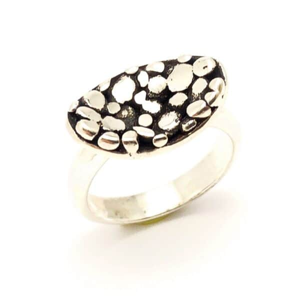 Cobblestone Sterling Silver Ring by Jamie Spinks