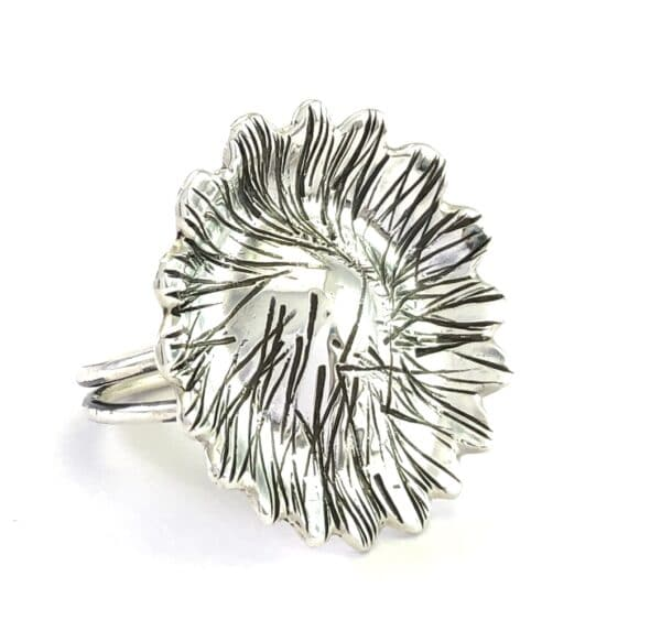 Shiny Flower Sterling Silver Ring by Jamie Spinks