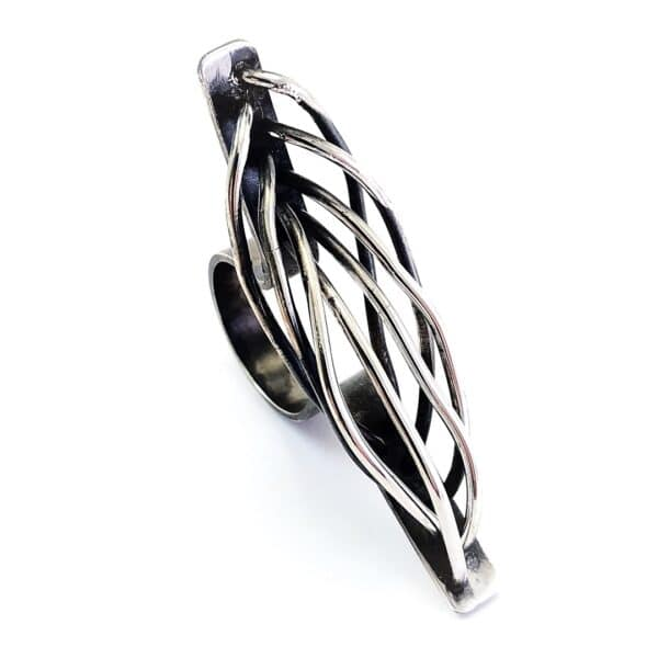 Inside Out Sterling Silver ring by Jamie Spinks