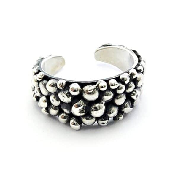 Bubble Finger Silver ring by Jamie Spinks