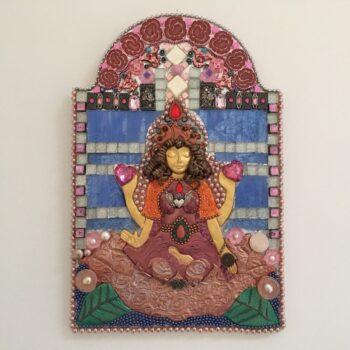 goddess-art-lakshmi-bestower-of-blessings-by-amethyst-moon-art-by-Amethyst Moon