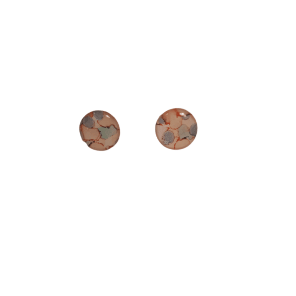 Soft pink and blue hues small stud Earrings by Ear Candy