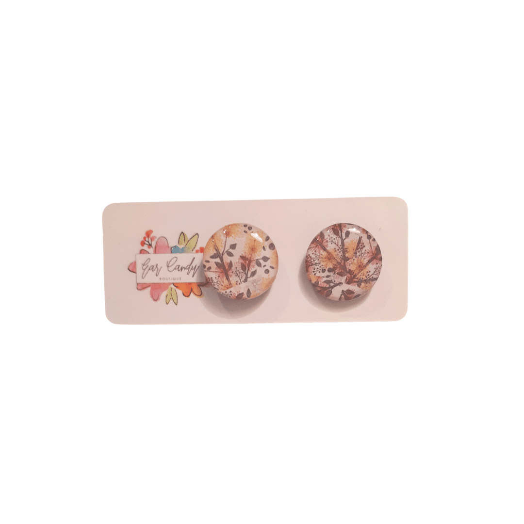 Soft Floral Small Stud Earrings By Ear Candy