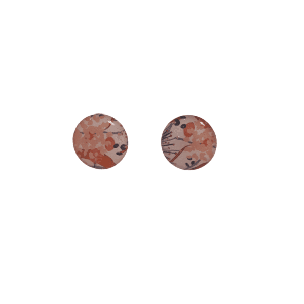 Pink Floral small Stud Earrings by Ear Candy