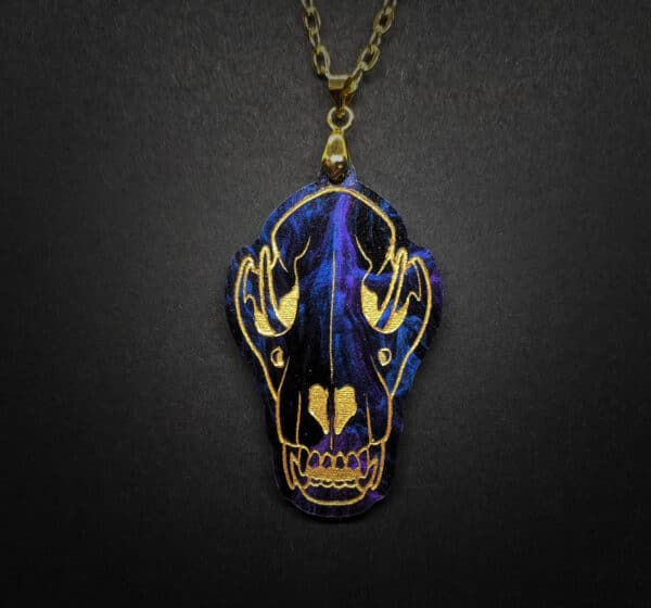 wolf-skull-acrylic-necklace-by-beth-parow-illustration-amp-design-by-bethparow