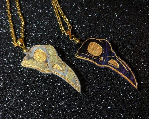 wolf-skull-acrylic-necklace-by-beth-parow-illustration-amp-design-by-bethparow
