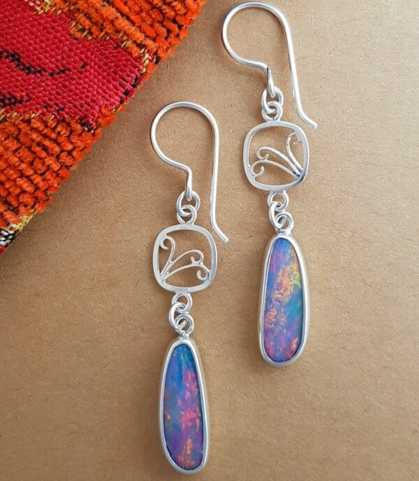 tulip-frames-sterling-silver-and-opal-long-earrings-by-flying-lobster-by-flyinglobster