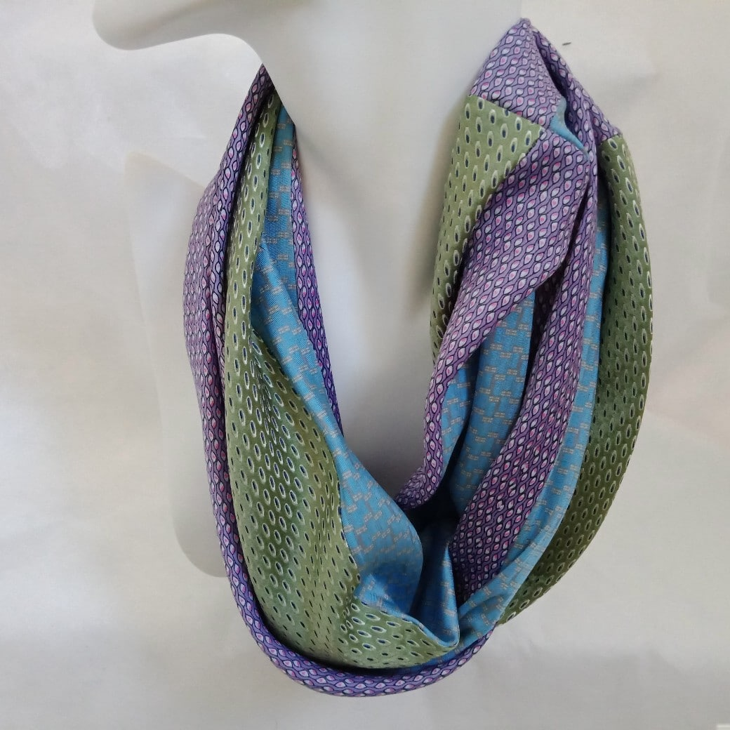 Judith Scott is a Melbourne based textile artist crafting one-off functional quirky accessories such as scarves and headbands using upcycled natural fibres.