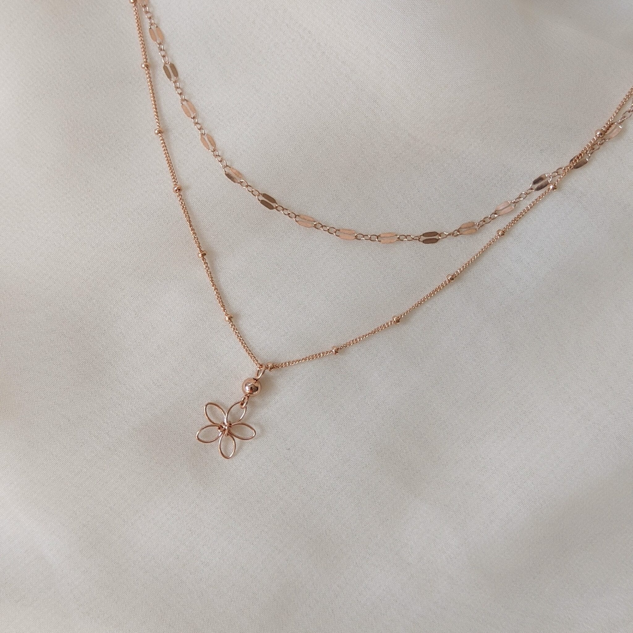 Sea Lavender Necklace – Rose Gold Filled By Little Hangings