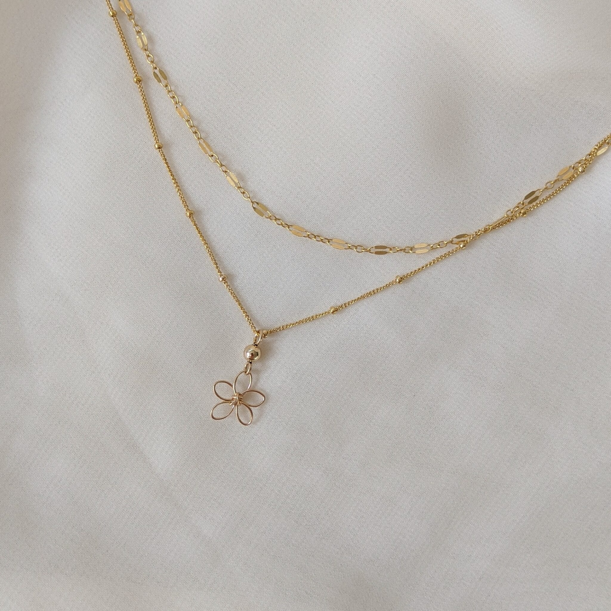 Sea Lavender Necklace – Gold Filled By Little Hangings
