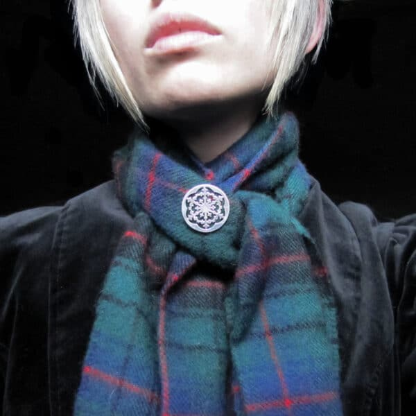silver-snowflake-brooch-pin by skadi jewellery design