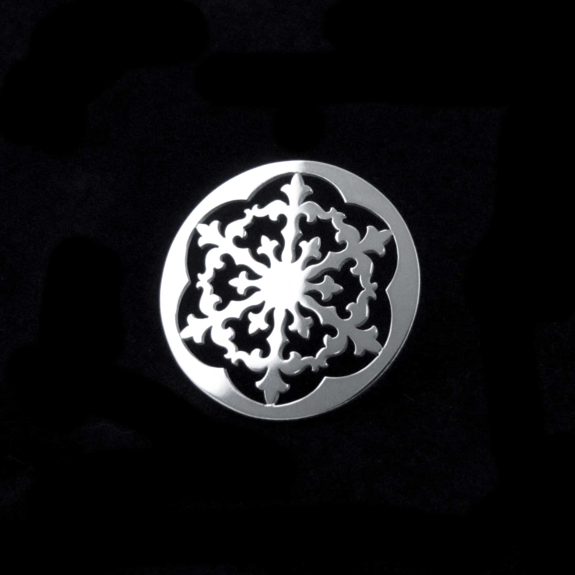 Winter's Ornament – Silver Snowflake Pin By Skadi Jewellery Design