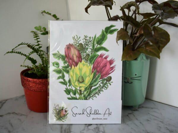 protea-bunch-art-print-botanical-collection-sarah-sheldon-art-by-a-vibrant-nest-by-avibrantnest