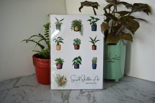 variety-potted-plants-art-print-botanical-collection-sarah-sheldon-art-by-a-vibrant-nest-by-avibrantnest
