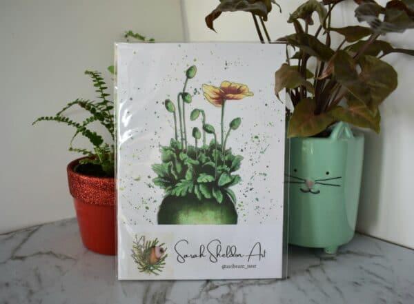 kokedama-art-print-botanical-collection-sarah-sheldon-art-by-a-vibrant-nest-by-avibrantnest