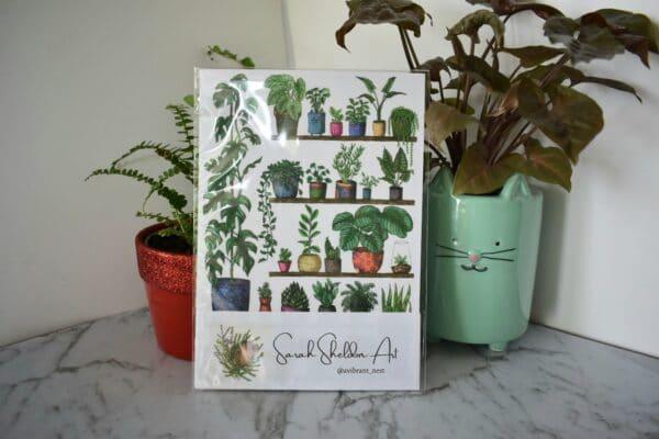 shelfie-2-monstera-art-print-botanical-collection-sarah-sheldon-art-by-a-vibrant-nest-by-avibrantnest