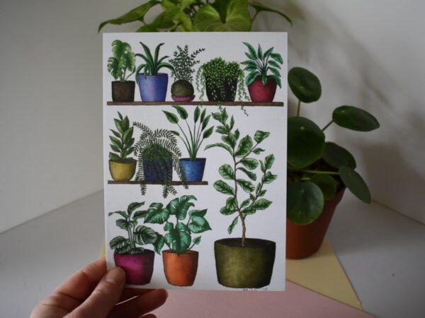 shelfie-1-fiddle-leaf-botanical-collection-art-print-sarah-sheldon-art-by-a-vibrant-nest-by-avibrantnest