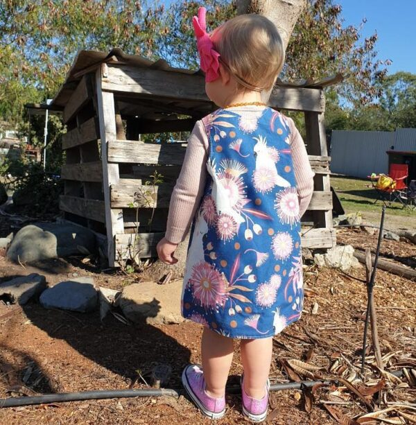 childrens-size-0-reversible-pinafore-dress-cockatoo-on-blue-pink-gossiping-gumnuts-by-st-david-studio-3065-kids-by-kylie-8146