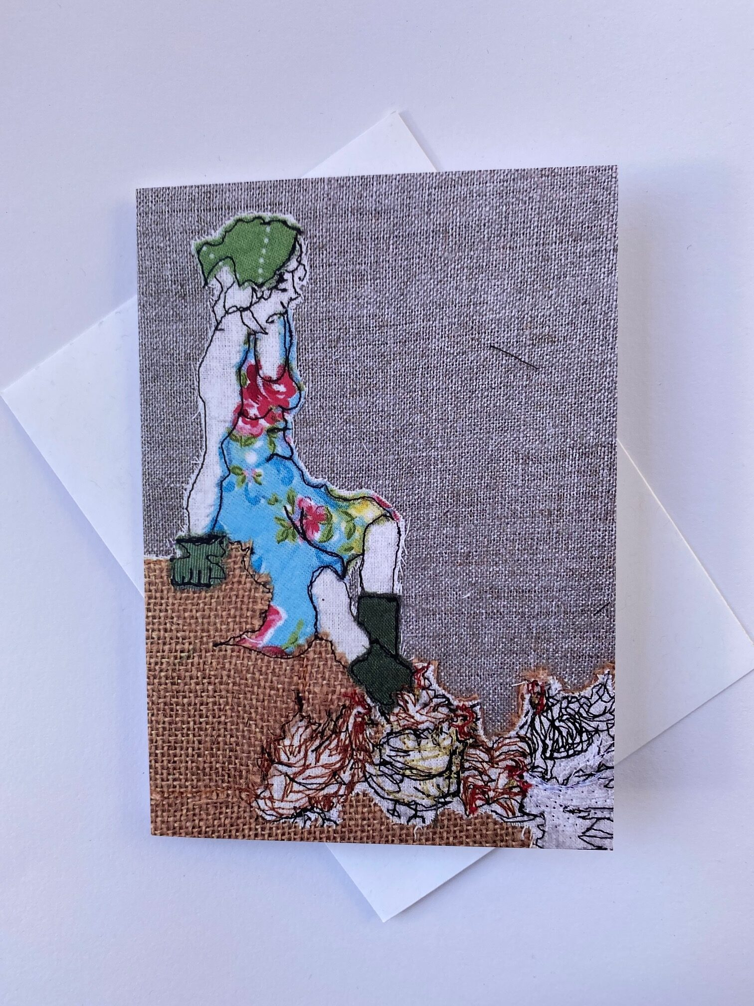 Mistress Of The Chickens Greetings Card By  Juliet D Collins (Fitzroy)