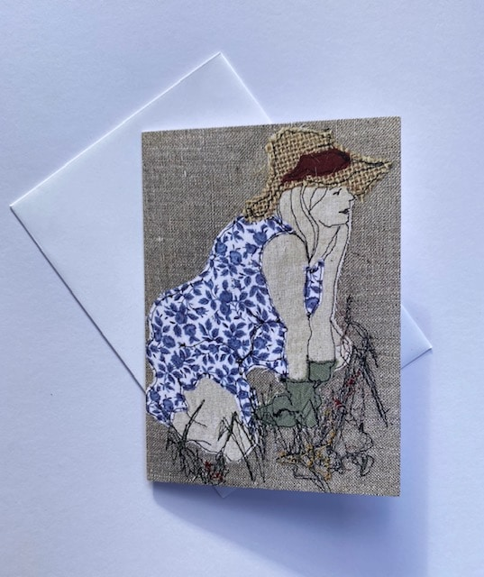 The Gardener Greeting Card By  Juliet D Collins (Fitzroy)