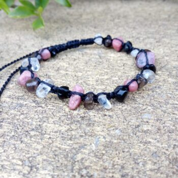 black-macrame-bracelet-with-gemstone-chips-by-HalinaK