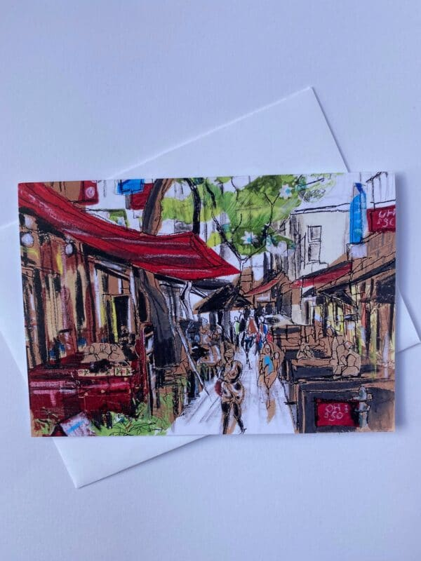 hardware-lane-melbourne-city-sketch-greeting-card-by-julietdcollins
