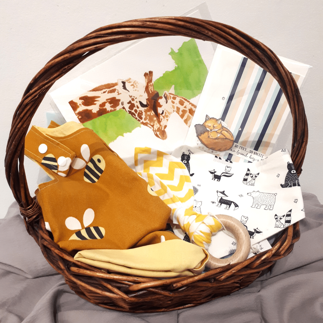 Baby Shower And Newborn Baby Gift Pack With Gorgeous Handmade And Keepsake Creations
