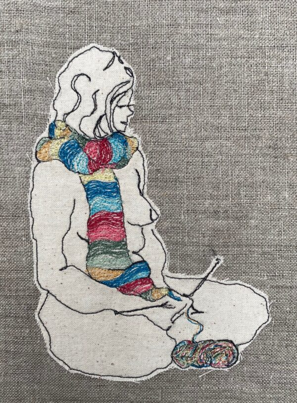 the-knitter-embroidered-textile-artwork-by-juliet-d-collins-by-julietdcollins