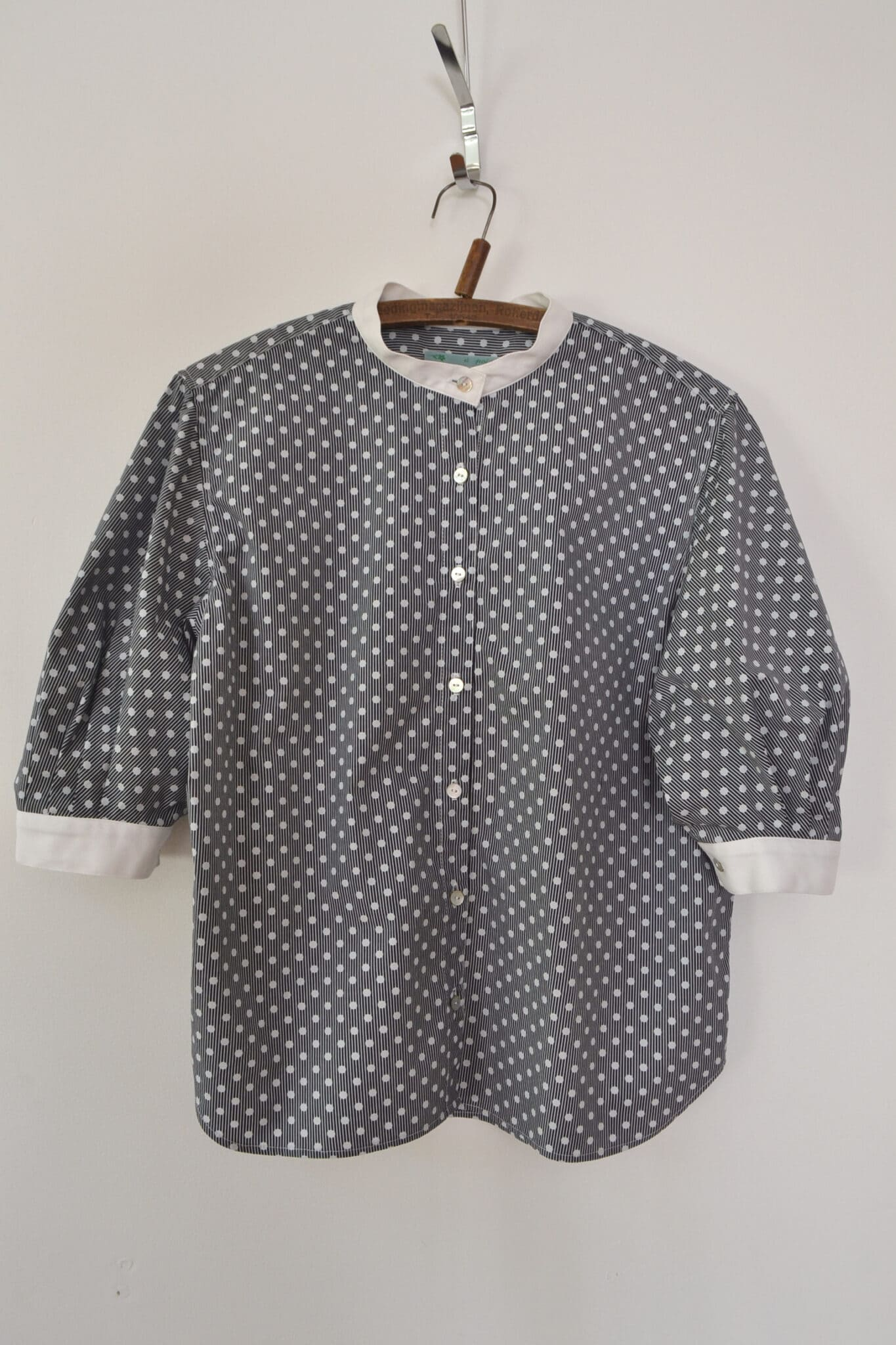 Balloon Sleeve Blouse In Polkadot By à Pois