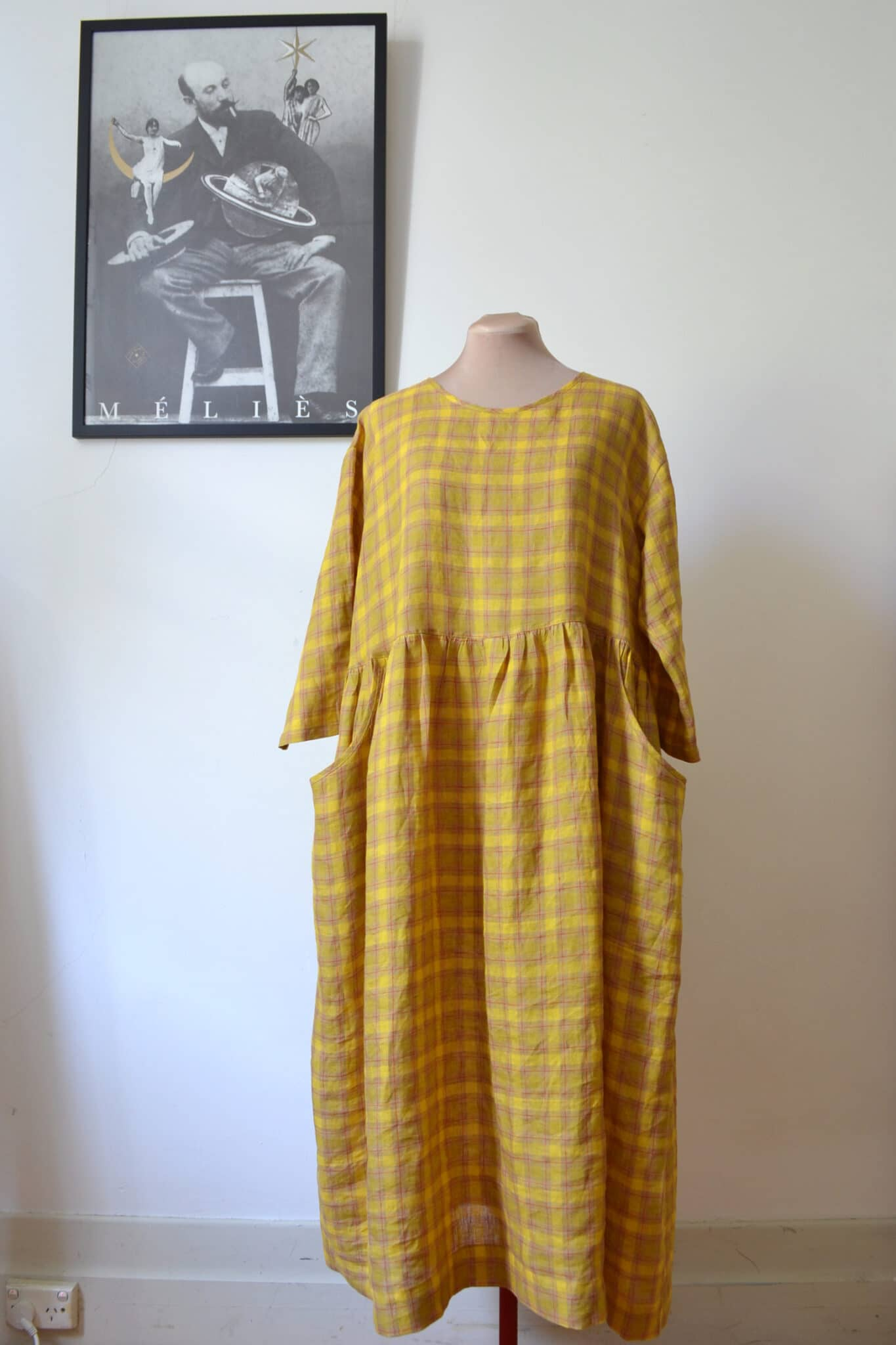 Prairie Dress(M) – Buttercup Linen By à Pois
