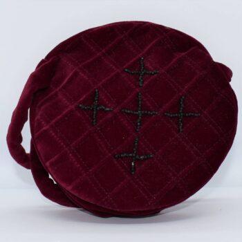 beaded-maroon-velvet-handbag-by-helen-macqueen-textile-art-by-Msjayjay