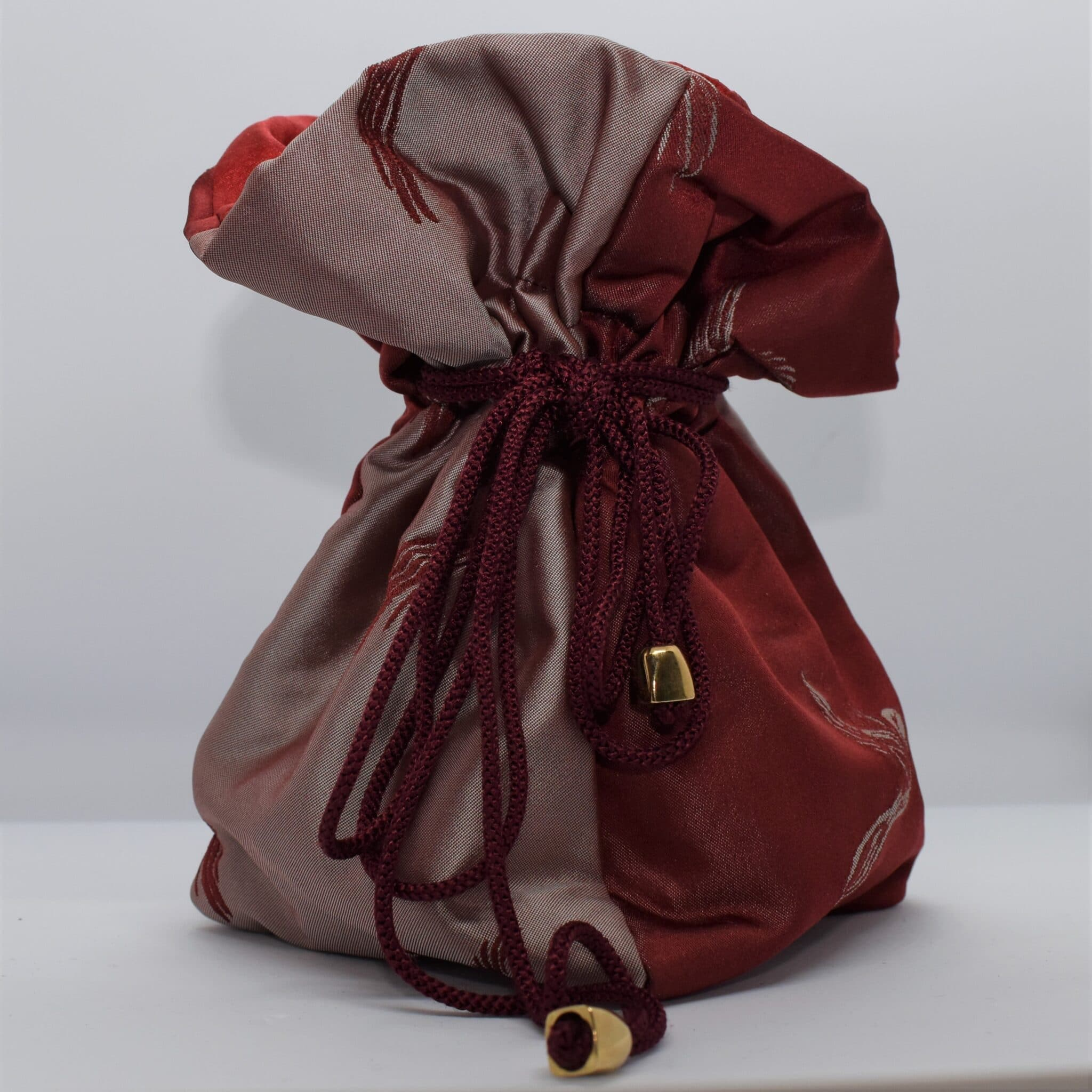 Red Silk Dilly Bag By Helen Macqueen Textile Art