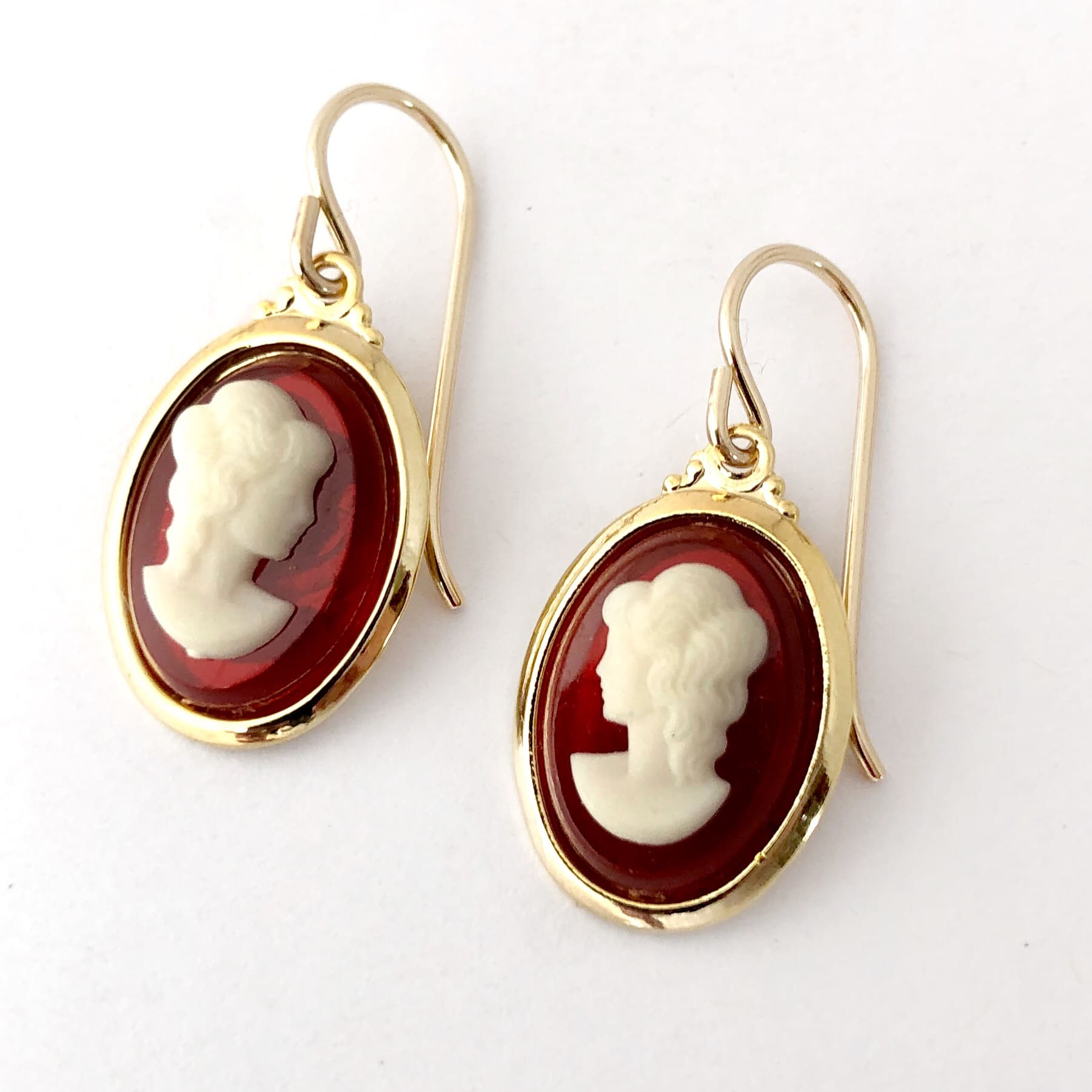 Vintage Cameo Earrings By My Vintage Obsession